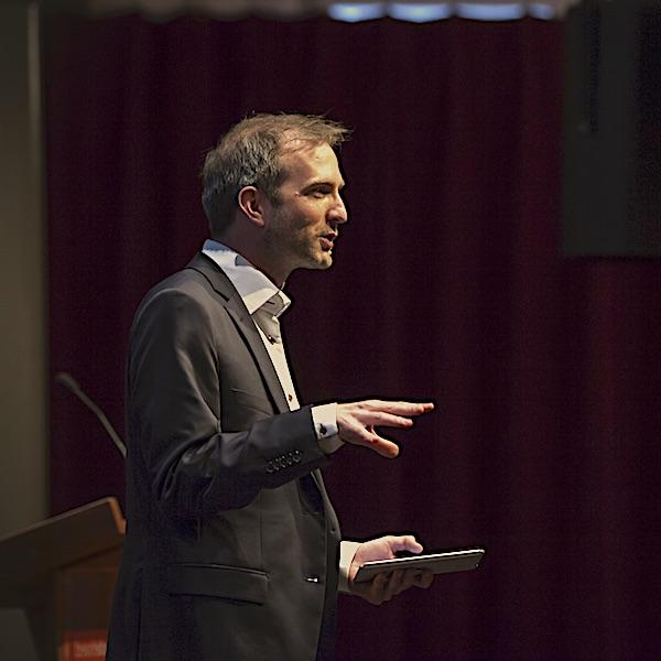 Lars Duursma bij Meillo-lezing