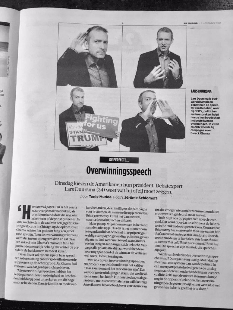Interview Volkskrant: Lars Duursma